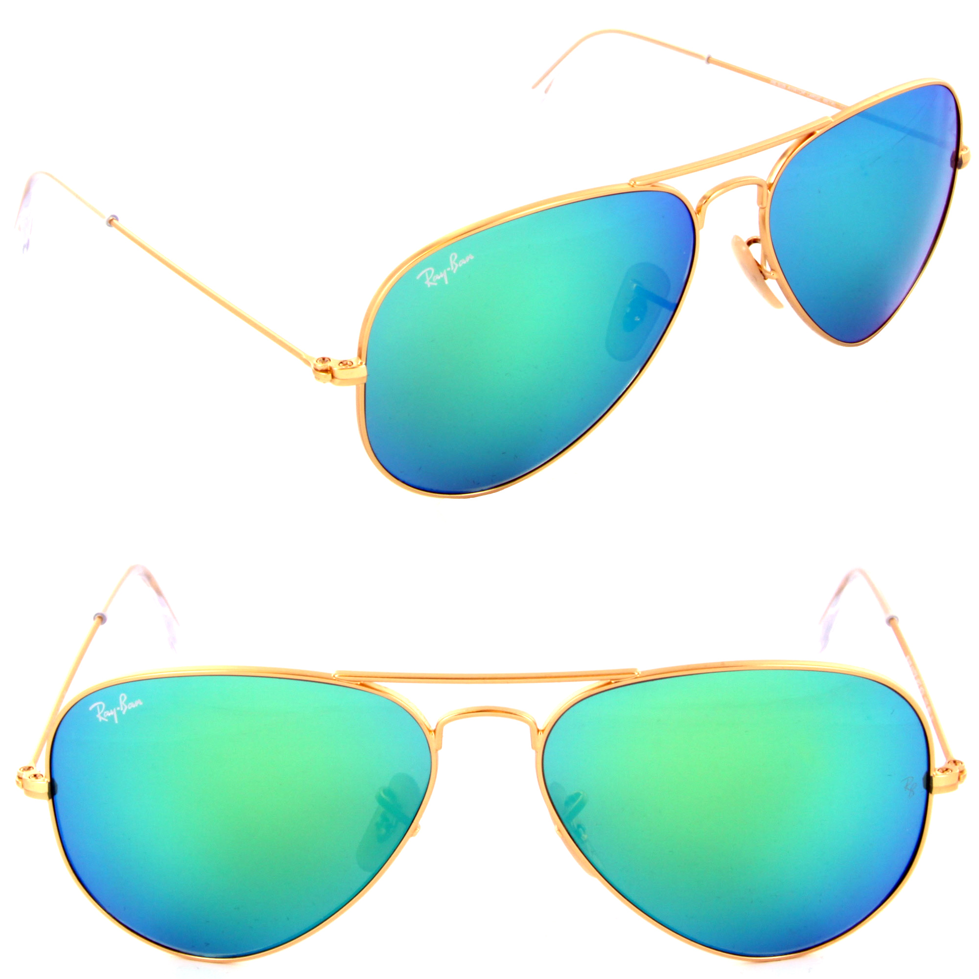 ray ban aviator colored mirrors
