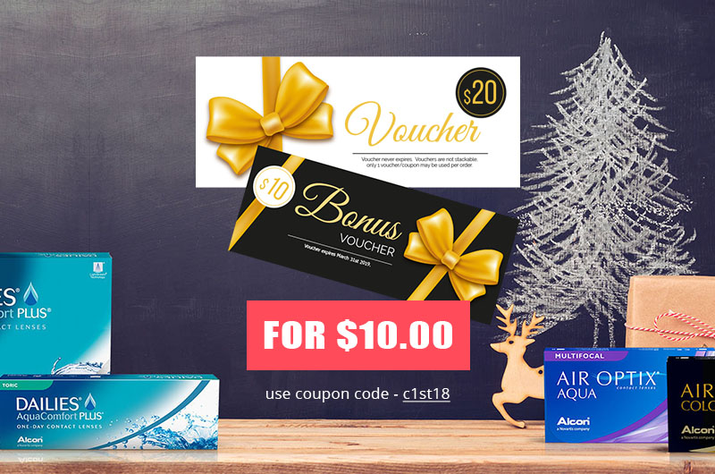 Bonus $10 Voucher Contact Lenses